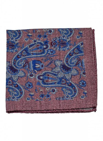 A. Christensen A. Christensen Wool Pocket Square - Burgundy