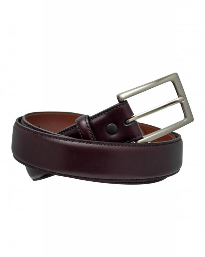 Torino Torino Leather Glazed Kipskin Belt - Cordovan