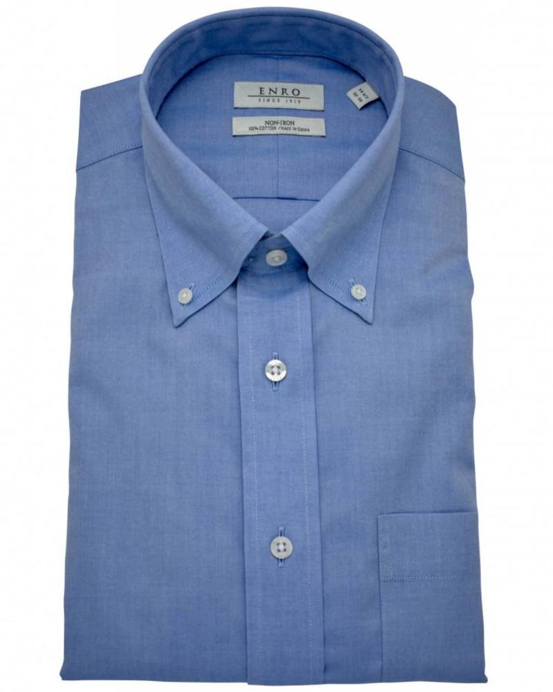 Enro Enro Button Down Dress Shirt - White/Blue
