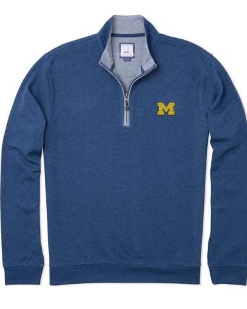 Johnnie-O Johnnie-O Sully Michigan 1/4 Zip Pullover - Helios Blue