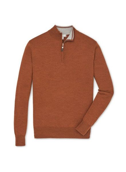 Peter Millar Peter Millar Crown Soft Quarter Zip Sweater - Hickory