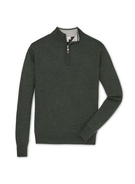 Peter Millar Peter Millar Crown Soft Quarter Zip Sweater -  Woodland