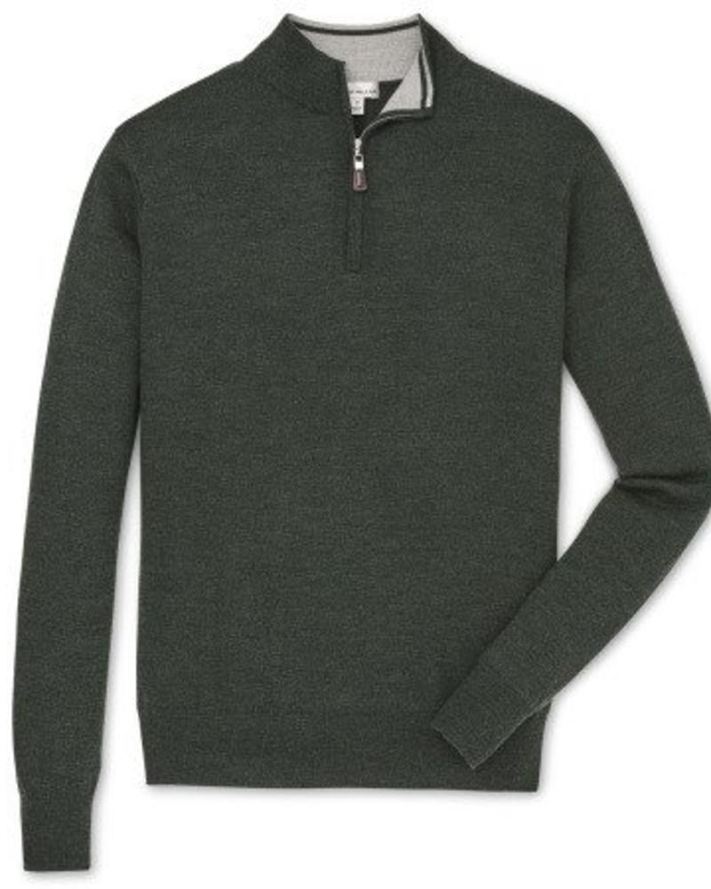 Peter Millar Peter Millar Crown Soft Quarter Zip Sweater -  Woodland