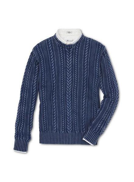 Peter Millar Peter Millar Mountainside Cable Crewneck Sweater - Indigo