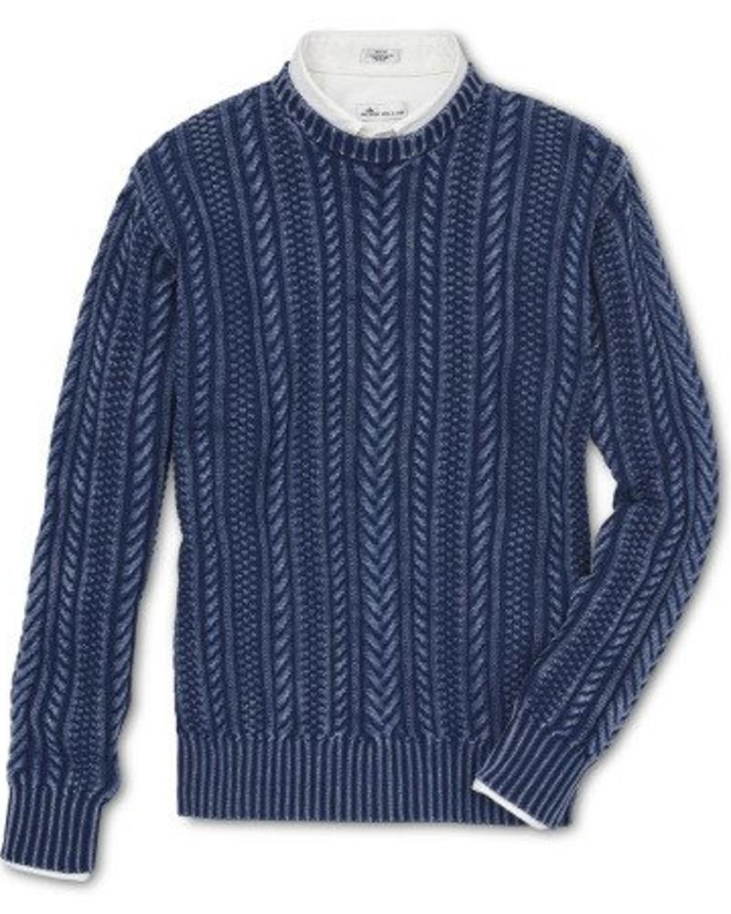 Peter Millar Peter Millar Mountainside Cable Crewneck Sweater - Indigo