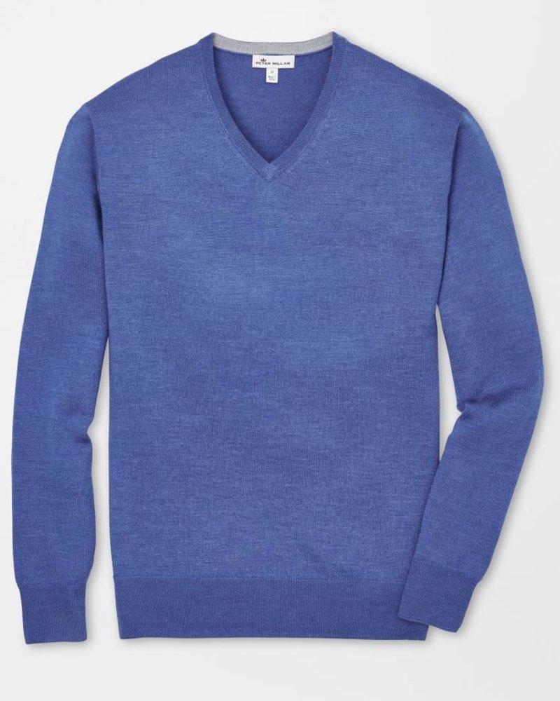 Peter Millar Peter Millar Crown Soft Vneck Sweater - Grey/Navy