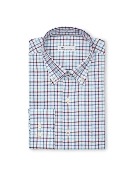 Peter Millar Peter Millar Crown Ease Eyre Square Tattersall Sport Shirt - Swiss Blue