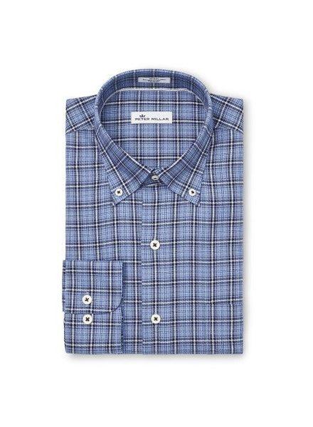 Peter Millar Peter Millar Crown Fleece Briar Hill Tartan Sport Shirt - Cottage Blue