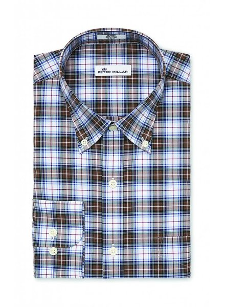 Peter Millar Peter Millar Crown Vintage Maplewood Tartan Sport Shirt - White