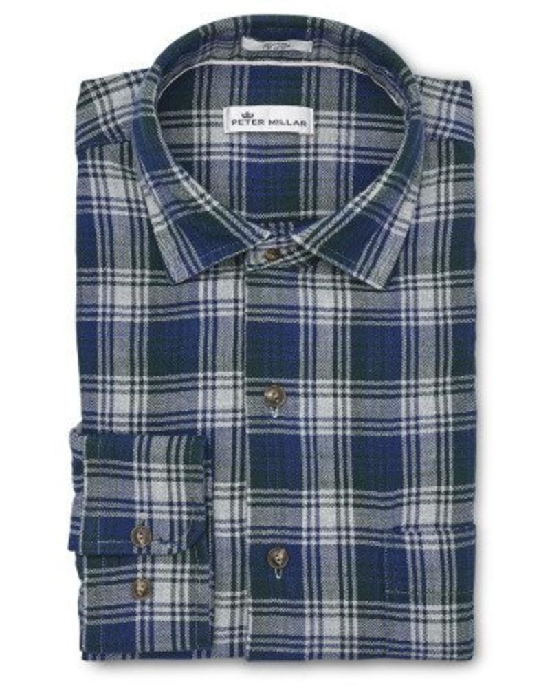 Peter Millar Peter Millar Mountainside Mount Hunter Plaid Sport Shirt - Atlantic Blue