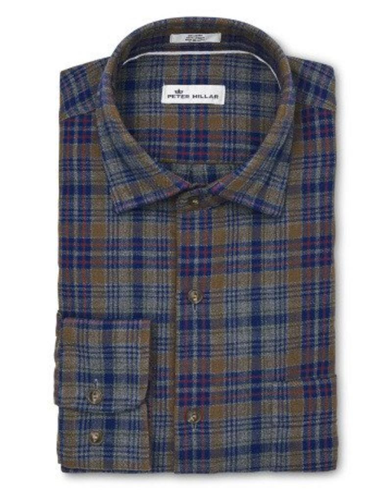 Peter Millar Peter Millar Mountainside Linville Gorge Plaid Sport Shirt - Atlantic Blue