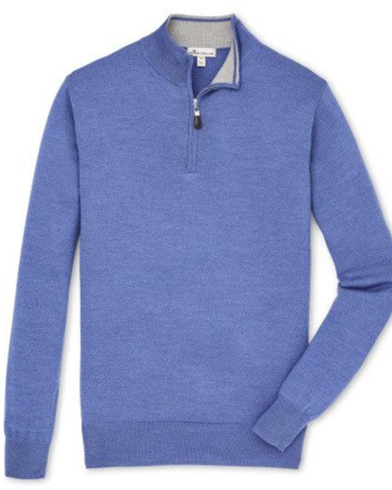 Peter Millar Peter Millar Crown Soft Quarter Zip Sweater - Plaza Blue