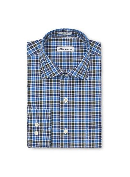 Peter Millar Peter Millar Crown Finish Salthill Check Sport Shirt - Swiss Blue