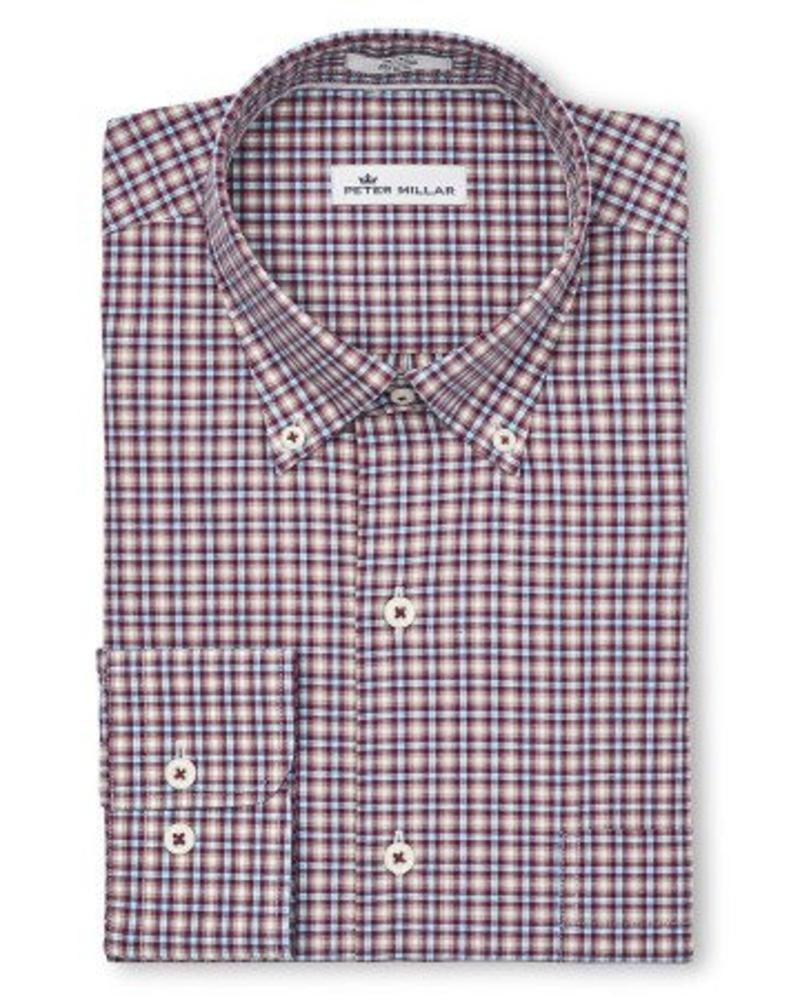 Peter Millar Peter Millar Crown Finish Albertville Check Sport Shirt - Winterberry