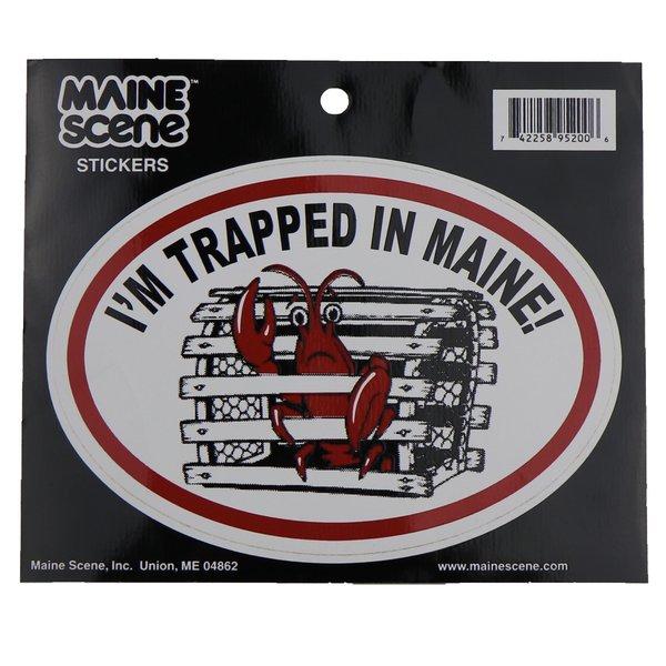 Maine Scene 20-Sticker-Trapped in Maine