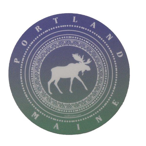 Blue 84 Sticker- Hair Band Moose Portland
