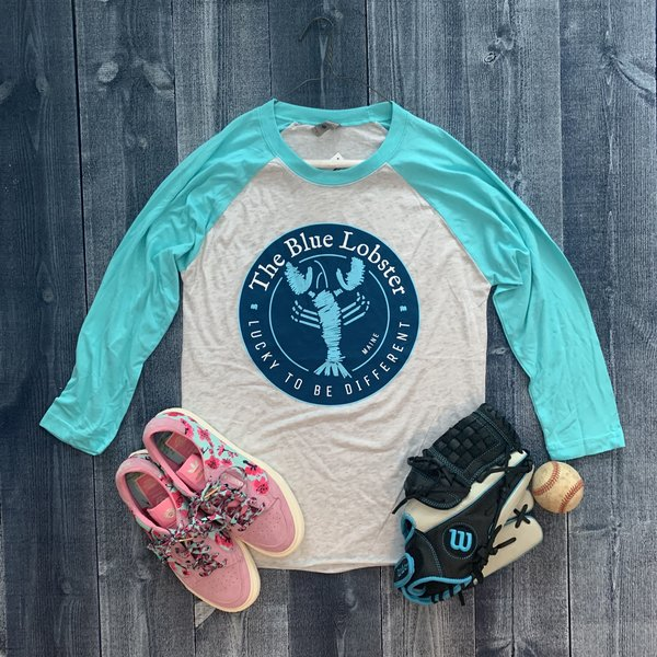 Coed The Blue Lobster Maine Raglan 3/4 Sleeve