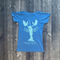 Fundy The Blue Lobster Ladies V-Neck T-Shirt