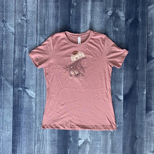 Bumwraps Mountain Girl Ladies T-Shirt
