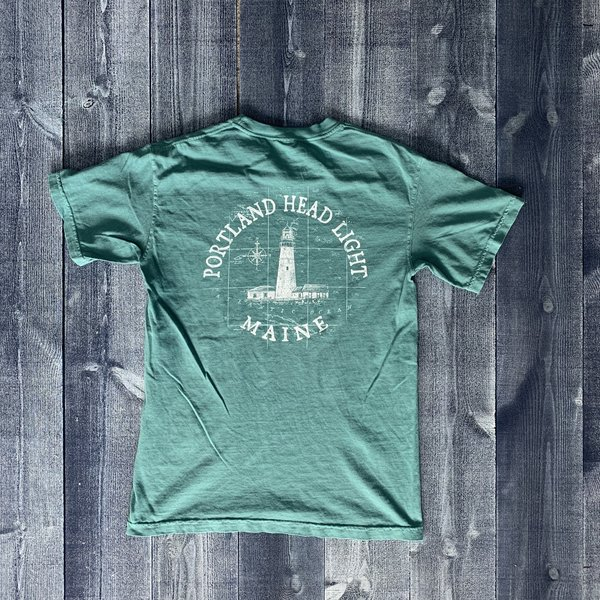 Austins Chart Map Portland Head Light T-shirt