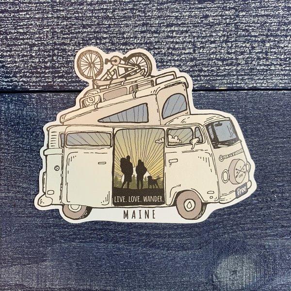 Bumwraps Westie Pine-Sticker