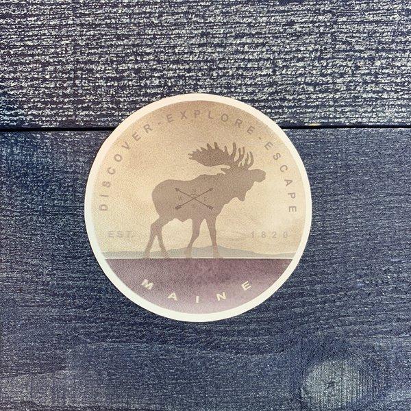 Bumwraps Native Moose Sticker