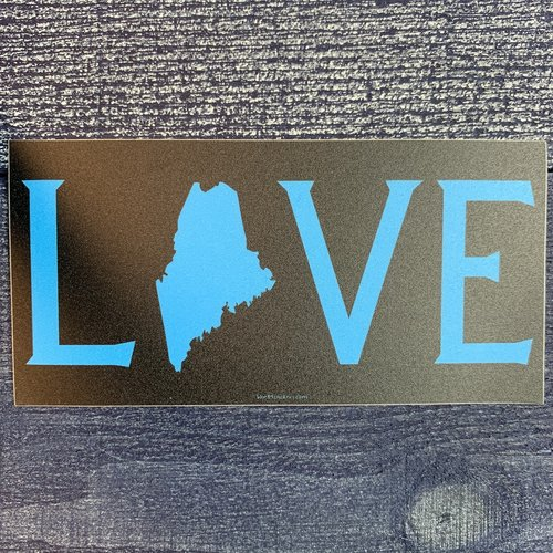 Blue 84 Blue Love Maine Sticker
