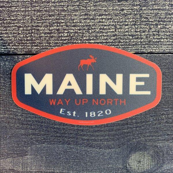 Blue 84 Sticker- Journalistic Moose