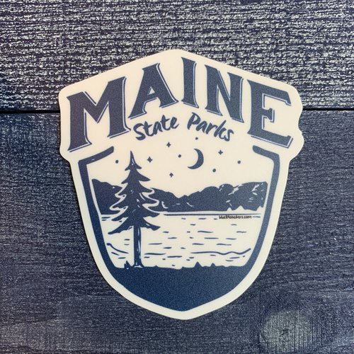 Blue 84 Maine Tickling Hills State Parks Sticker