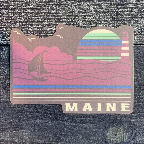 Blue 84 Klause Lighthouse & Boat Sticker