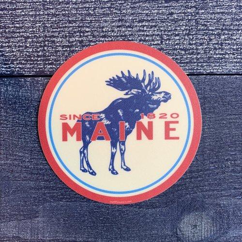 Blue 84 Speedster Moose Sticker