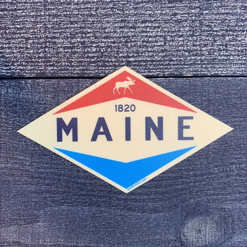 Blue 84 Slick Valve Moose Sticker