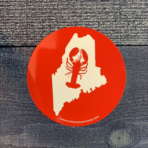 Entertainya Round Lobster Sticker