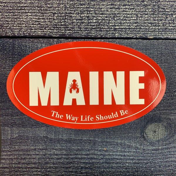 Entertainya OV111-Sticker-Maine Lobster Oval