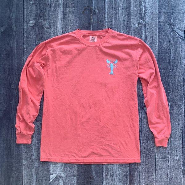 Coed The Blue Lobster Longsleeve T-shirt- Watermelon