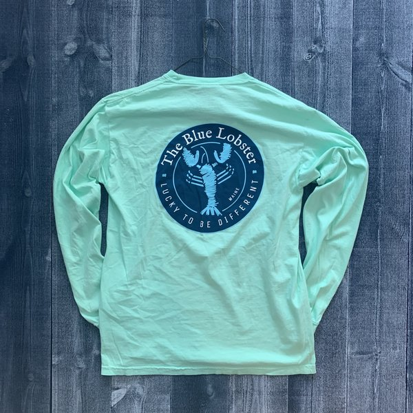 Coed The Blue Lobster Longsleeve T-shirt- Chalky Mint