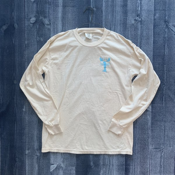 Coed The Blue Lobster Longsleeve T-shirt- Ivory