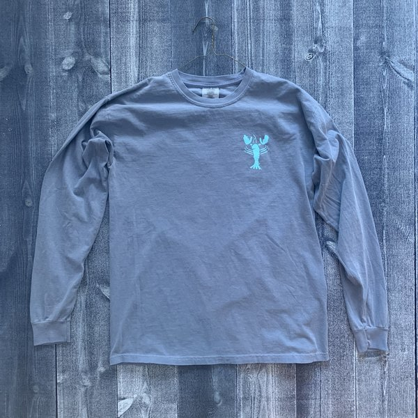Coed The Blue Lobster Longsleeve T-shirt- Blue Jean