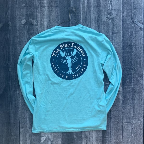 Coed The Blue Lobster Longsleeve T-shirt-Lagoon
