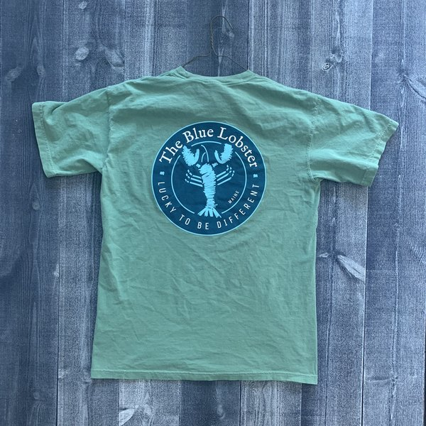 Coed The Blue Lobster Maine Pocket T-shirt- Light Green
