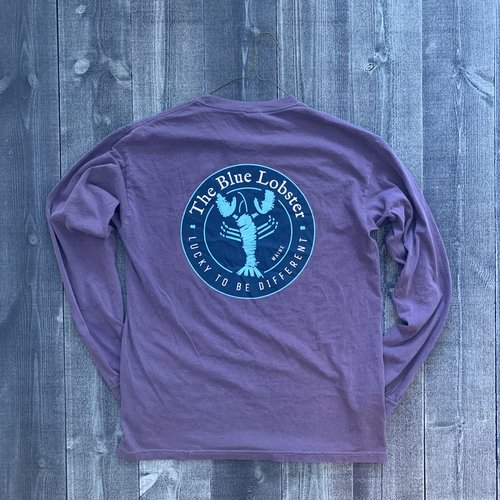 Coed The Blue Lobster Longsleeve T-shirt- Grape