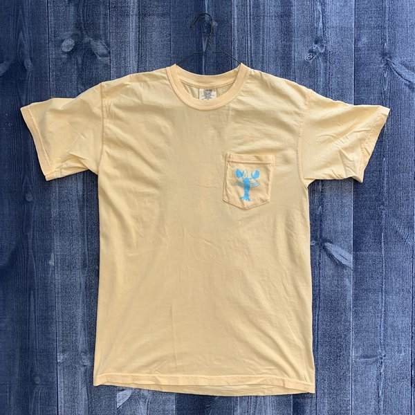 Coed The Blue Lobster Maine Pocket T-shirt- Butter