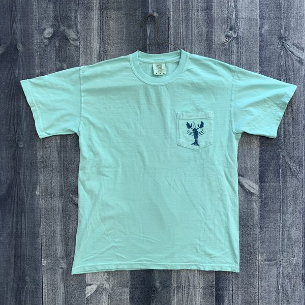 Coed The Blue Lobster Maine Pocket T-shirt- Chalky Mint