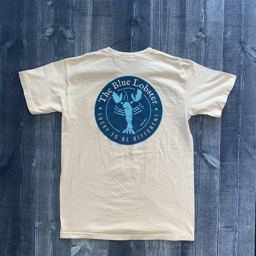 Coed The Blue Lobster Maine Pocket T-shirt- Ivory