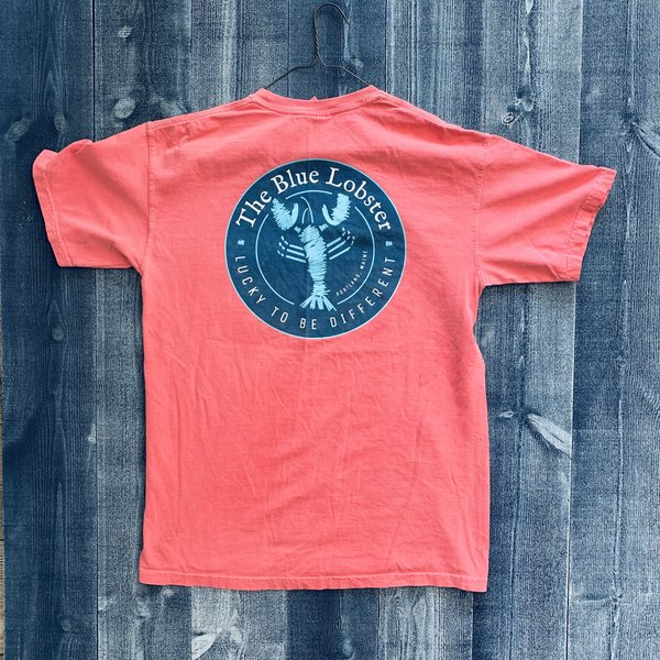 Coed The Blue Lobster Maine Pocket T-shirt- Watermelon