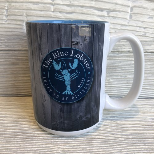 Entertainya The Blue Lobster Wood Print Mug