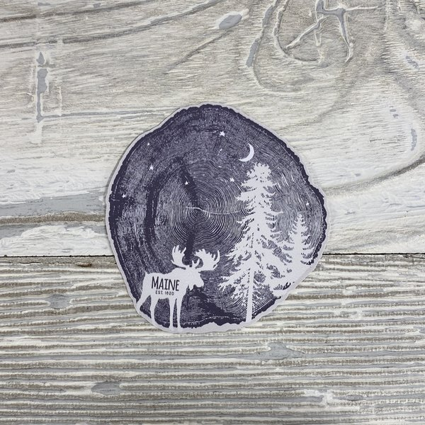 Bumwraps WoodCut Moose-Sticker