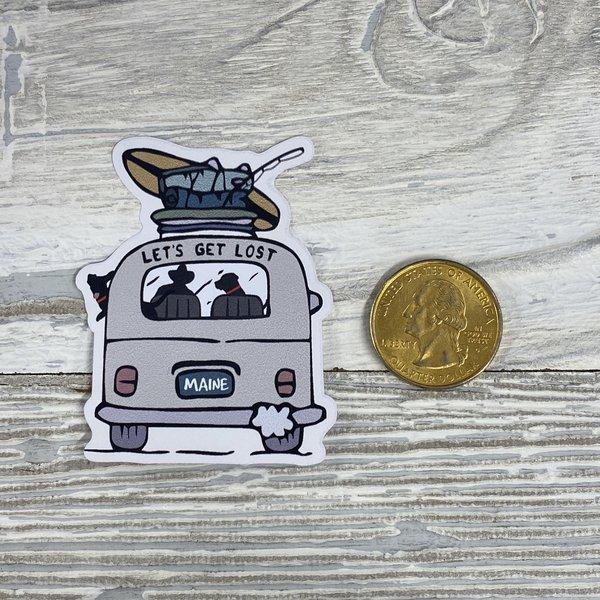 Bumwraps Let's Get Lost-Mini Sticker