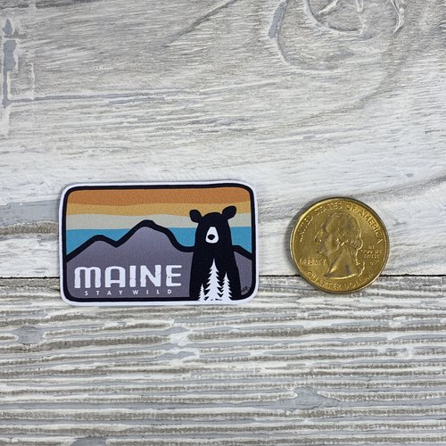 Bumwraps The Bear-Mini Sticker