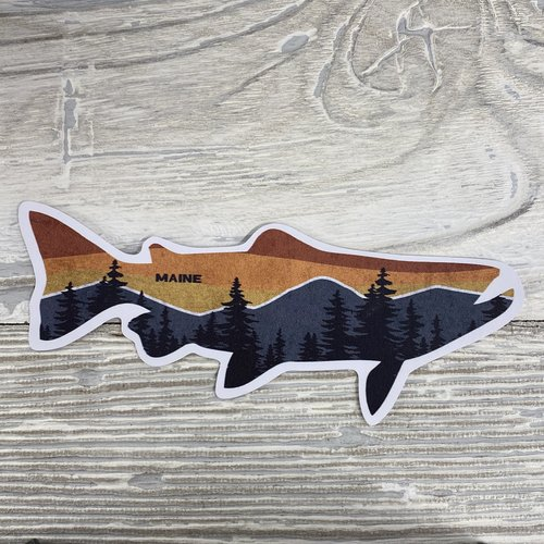 Bumwraps MTN Trout-Sticker
